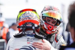 Robin Frijns, Envision Virgin Racing, Audi e-tron FE05, hugs Daniel Abt, Audi Sport ABT Schaeffler, Audi e-tron FE05 after winning the race