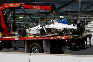 Kyle Kaiser, Juncos Racing Chevrolet dopo l'incidente al turno 3