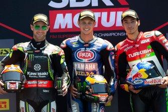 Jonathan Rea, Kawasaki Racing, Michael van der Mark, Pata Yamaha, Toprak Razgatlioglu, Turkish Puccetti Racing