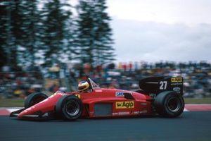 Michele Alboretto (ITA) Ferrari 156/85, 1st place. German Grand Prix, Nurburgring, 4 August 1985