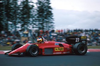 Michele Alboretto (ITA) Ferrari 156/85, 1st place. German Grand Prix, Nurburgring, 4 August 1985