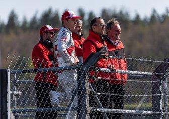 Mike Rockenfeller, Audi Sport Team Phoenix, Jamie Green, Audi Sport Team Rosberg, Dieter Gass, baas van DTM Audi Sport, Nicola Palarchi, Erich Baumgärtner