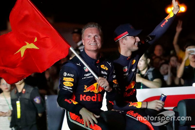 David Coulthard y Jake Dennis