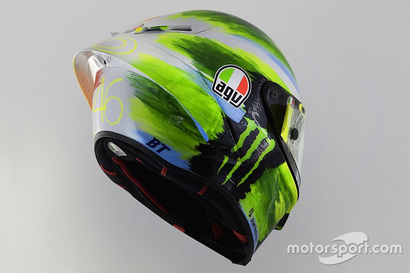 Casco Valentino Rossi, Yamaha Factory Racing, GP de Italia 2019