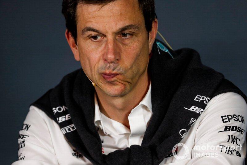 Toto Wolff, team principal Mercedes AMG, durante la conferenza stampa dei Team Principal