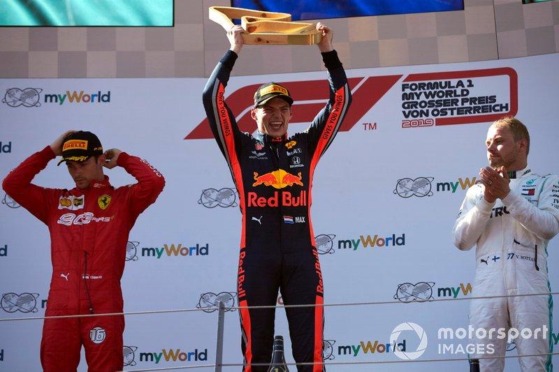 3 Austria 2019: Max Verstappen, Charles Leclerc, Valtteri Bottas