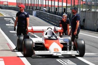 A McLaren MP4-2 driven by Niki Lauda