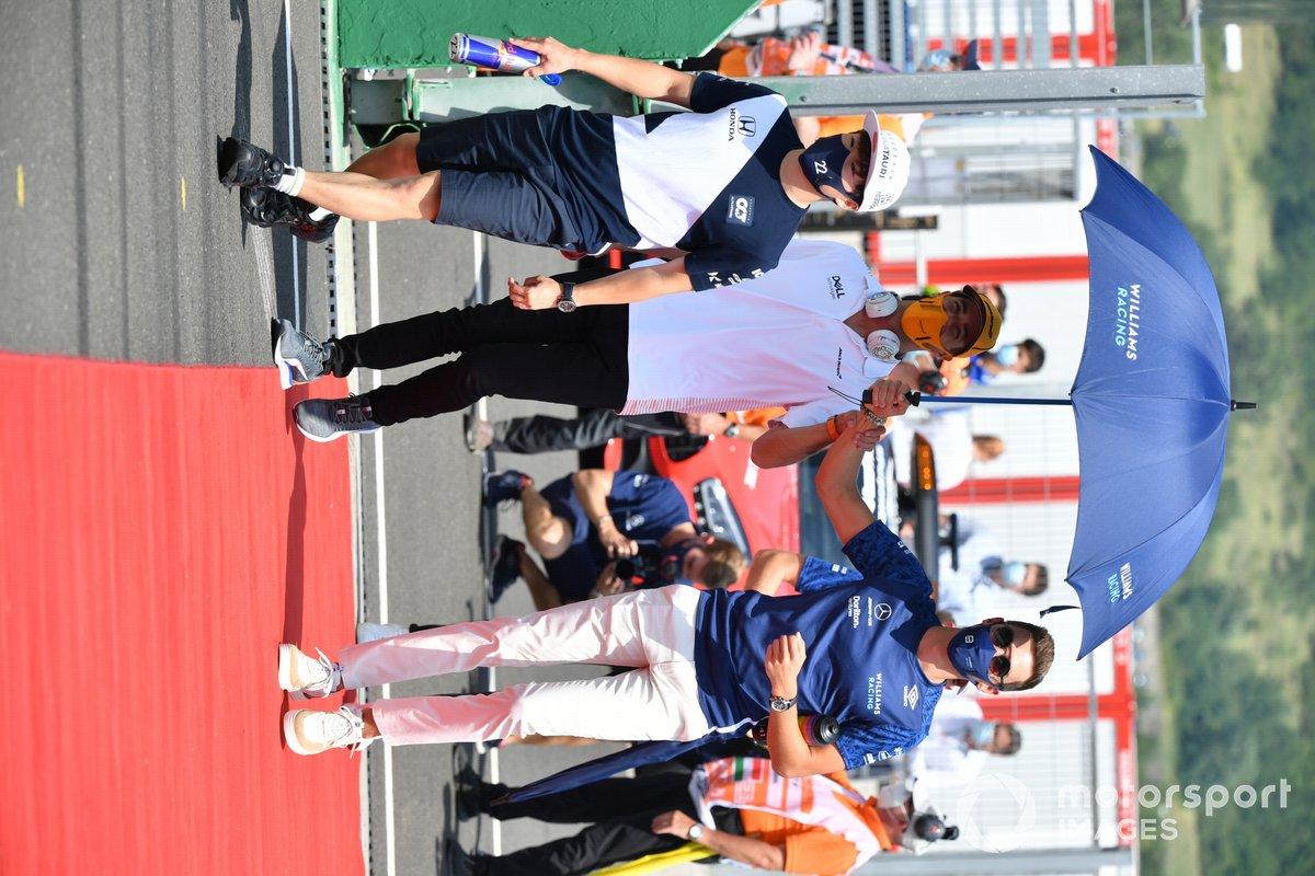 Yuki Tsunoda, AlphaTauri Daniel Ricciardo, McLaren George Russell, Williams