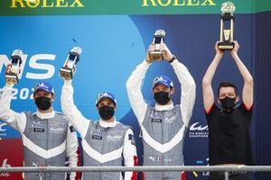LMGTE Pro podio terzo posto #92 Porsche GT Team Porsche 911 RSR - 19 LMGTE Pro, Kevin Estre, Neel Jani, Michael Christensen