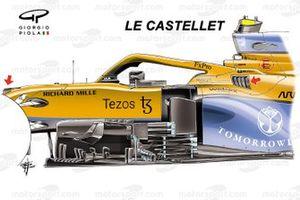 McLaren MCL35M new bargeboard: Le Castellet