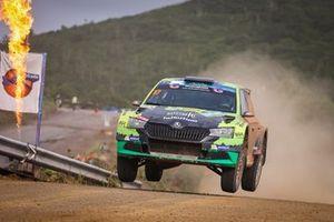 Benito Guerra, Daniel Cue, Skoda Fabia Rally2 evo