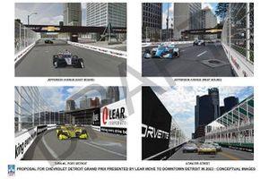 Detroit downtown track proposal