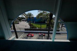 #9: Pfaff Motorsports Porsche 911 GT3R, GTD: Zacharie Robichon, Laurens Vanthoor, #31: Whelen Engineering Racing Cadillac DPi, DPi: Felipe Nasr, Pipo Derani