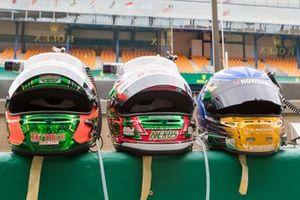 #777 D'Station Racing Aston Martin Vantage AMR LMGTE Am, Satoshi Hoshino, Tomonobu Fujii, Andrew Watson Helmets