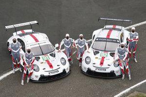 #91 Porsche GT Team Porsche 911 RSR - 19 LMGTE Pro, Gianmaria Bruni, Richard Lietz, Frederic Makowiecki, #92 Porsche GT Team Porsche 911 RSR - 19 LMGTE Pro, Kevin Estre, Neel Jani, Michael Christensen