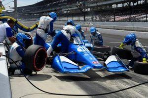 Alex Palou, Chip Ganassi Racing Honda pit stop