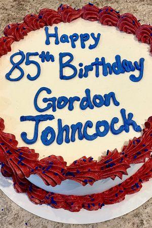 Gordon Johncock's 85th birthday cake
