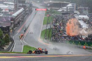 Vista del circuito con lluvia