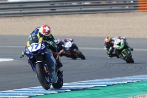 Dominique Aegerter, Ten Kate Racing Yamaha, Philipp Oettl, Kawasaki Puccetti Racing