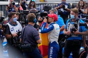Le Champion Alex Palou, Chip Ganassi Racing Honda, fête