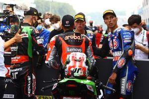 Jonathan Rea, Kawasaki Racing Team WorldSBK, Michael Ruben Rinaldi, Aruba.It Racing - Ducati, Andrea Locatelli, PATA Yamaha WorldSBK Team, Toprak Razgatlioglu, PATA Yamaha WorldSBK Team