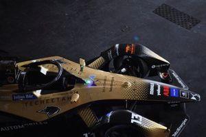 The damaged car of Antonio Felix Da Costa, DS Techeetah, DS E-Tense FE21