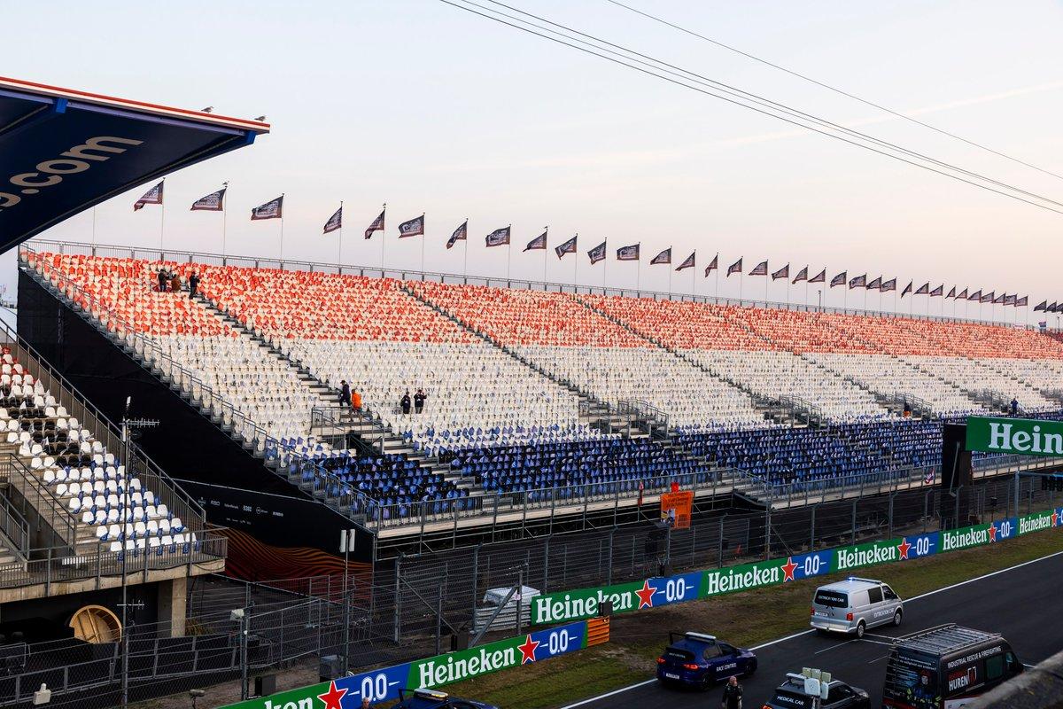 Las gradas de Zandvoort para el GP de Países Bajos