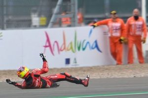 Sturz: Gabriel Rodrigo, Team Gresini Moto3