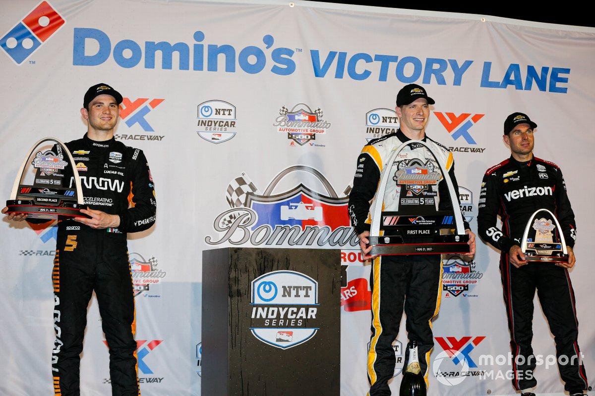 Josef Newgarden, Team Penske Chevrolet, Patricio O'Ward, Arrow McLaren SP Chevrolet, Will Power, Team Penske Chevrolet