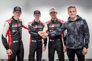 Elfyn Evans, Kalle Rovanperä, Sébastien Ogier, Esapekka Lappi, Toyota Gazoo Racing WRT