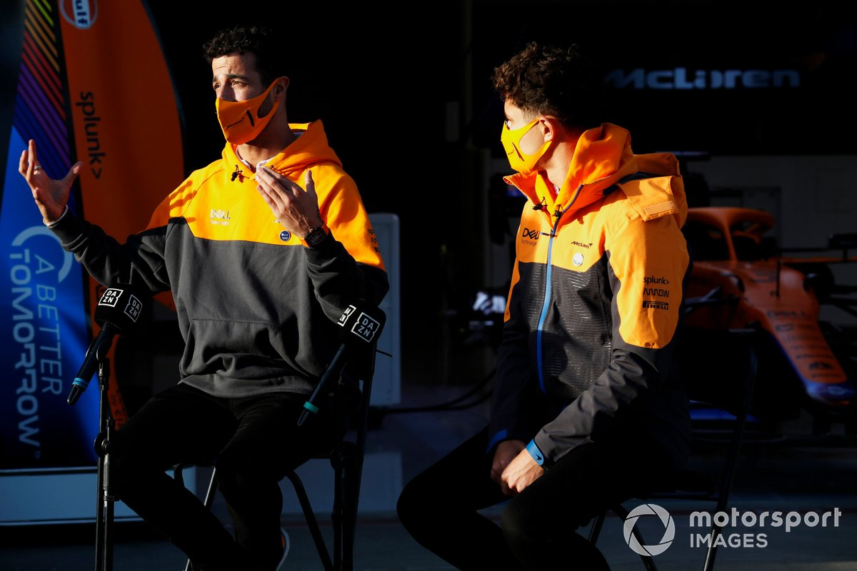 Daniel Ricciardo, McLaren, and Lando Norris, McLaren