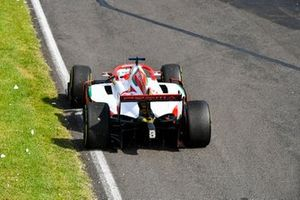 Mick Schumacher, Prema Racing in the run off area