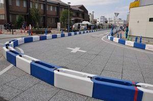 ほぼ設営が完了したコース|準備が進むA1市街地グランプリ GOTSU 2020のコース