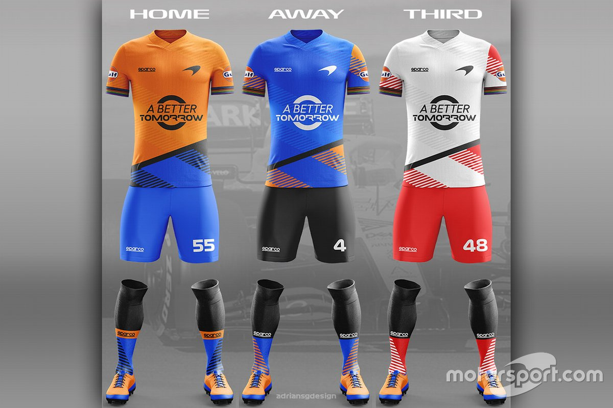 McLaren Football team kit