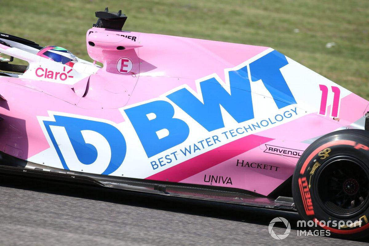 Detalle del monoplaza de Sergio Pérez, Racing Point RP20