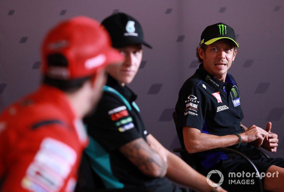 Andrea Dovizioso, Ducati Team, Fabio Quartararo, Petronas Yamaha SRT Valentino Rossi, Yamaha Factory Racing