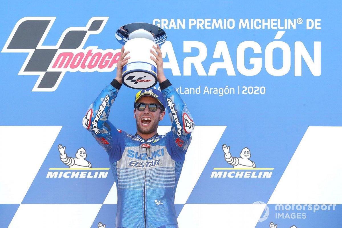 Podio: Ganador Alex Rins, Team Suzuki MotoGP
