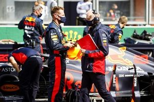 Adrian Newey, Chief Technical Officer, Red Bull Racing on the grid