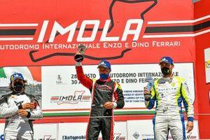 Podio Gara2 del DSG: Primo posto, Michele Imberti, Elite Motorsport, Cupra TCR, secondo posto, Eric Scalvini, Cupra TCR, Scuderia del Girasole by Cupra Racing, terzo posto, Matteo Poloni, Race Lab, Audi RS 3 LMS TCR