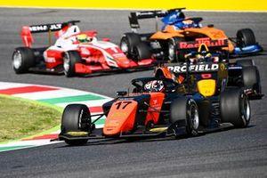 Richard Verschoor, MP Motorsport, Oscar Piastri, Prema Racing and Alexander Peroni, Campos Racing