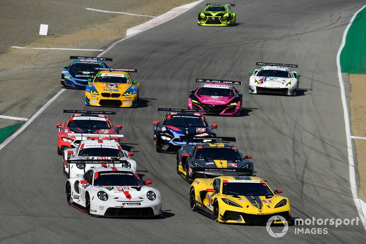 #3 Corvette Racing Corvette C8.R, GTLM: Antonio Garcia, Jordan Taylor, #912 Porsche GT Team Porsche 911 RSR - 19, GTLM: Laurens Vanthoor, Earl Bamber#3 Corvette Racing Corvette C8.R, GTLM: Antonio Garcia, Jordan Taylor, #912 Porsche GT Team Porsche 911 RSR - 19, GTLM: Laurens Vanthoor, Earl Bamber