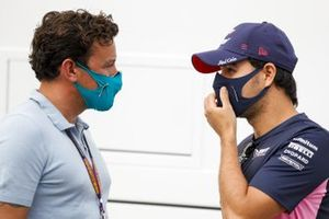 Sergio Perez, Racing Point speaks to Will Buxton