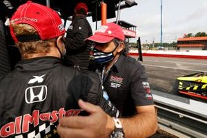 Santino Ferrucci, Dale Coyne Racing avec Vasser Sullivan Honda avec son père Michael