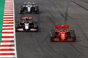 Charles Leclerc, Ferrari SF1000, Kevin Magnussen, Haas VF-20, and Nicholas Latifi, Williams FW43