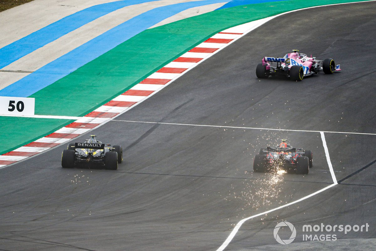 Lance Stroll, Racing Point RP20, Alex Albon, Red Bull Racing RB16, Esteban Ocon, Renault F1 Team R.S.20
