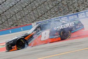 Jeb Burton, JR Motorsports, Chevrolet Camaro State Water Heaters spins