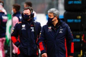 Кристиан Хорнер, руководитель Red Bull Racing, Масаши Ямамото, генеральный менеджер Honda Motorsport