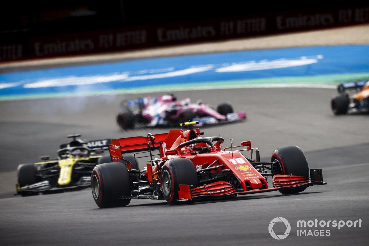 Charles Leclerc, Ferrari SF1000, Daniel Ricciardo, Renault F1 Team R.S.20