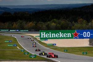 Charles Leclerc, Ferrari SF1000, Daniel Ricciardo, Renault F1 Team R.S.20, Alex Albon, Red Bull Racing RB16, Lando Norris, McLaren MCL35