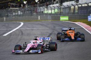 Sergio Perez, Racing Point RP20 and Carlos Sainz Jr., McLaren MCL35